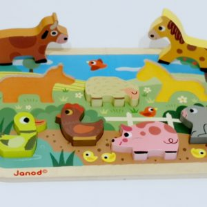 Puzzle Chunky Ferme Janod